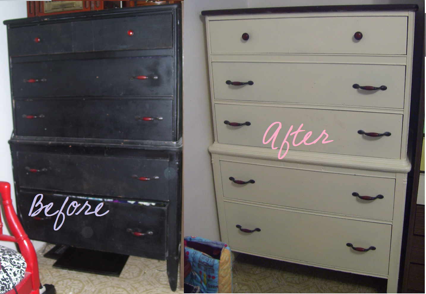 Painting Bedroom Furniture Before And After Painted Bedroom Furniture Before And After